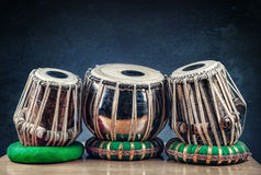 Tambours d'Indien de Tabla images libres de droits