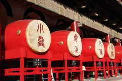Tambours dans la tour de tambour dans Xian Image stock