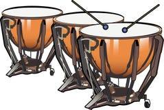 Tambours de bouilloire Illustration Stock