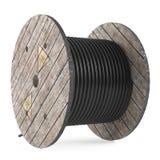 Tambours de câble. Bobine industrielle de tuyau Photos libres de droits