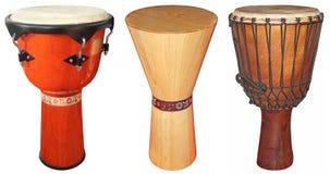 Tambours de Djembe Photo stock