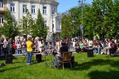 Tambours de pièce de musicien et tous autres instrument et signe Images libres de droits