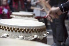 Tambours de Taiko photo stock