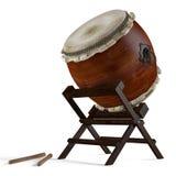 Tambours de Taiko. Instrument japonais traditionnel Images libres de droits
