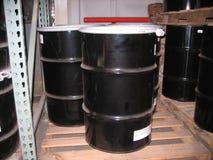 Tambours en acier industriels Photo libre de droits