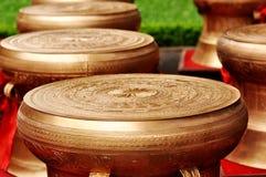 Tambours en bronze images stock