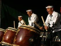 Tambours japonais Photo libre de droits