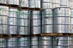 Tambours métalliques industriels Photographie stock libre de droits