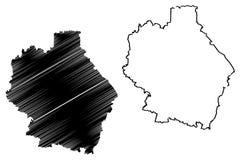 Tambov Oblast mapy wektor royalty ilustracja