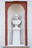 Tambov. Russia. Sculpture on the facade. Music School named Serg Royalty Free Stock Photography
