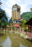 Tambun Tibetian Buddhist Temple, Perak. Tambun Tibetian Temple, also known as Jingang Jing She by the locals, is surrounded by magnificent perimeters of luscious Royalty Free Stock Image