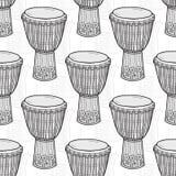tamburi Tamburi africani percussione illustrazione vettoriale