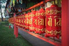 Tamburi buddisti di preghiera Fotografie Stock Libere da Diritti