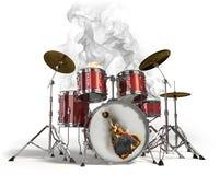 Tamburi Burning Fotografia Stock Libera da Diritti