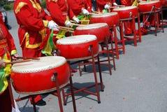 Tamburi cinesi Immagine Stock