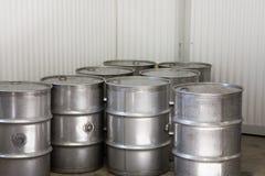Tamburi d'acciaio industriali Immagine Stock