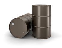 Tamburi dell'olio (percorso di ritaglio incluso) Fotografia Stock