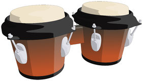Tamburi di bongo Fotografie Stock