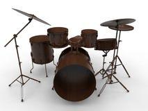 Tamburi di legno illustrazione vettoriale