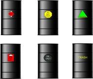 Tamburi di olio in 3d su bianco Immagine Stock Libera da Diritti