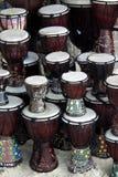 Tamburi di percussione sulla spiaggia Fotografia Stock Libera da Diritti