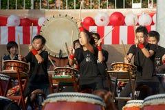 Tamburi di Taiko Immagine Stock