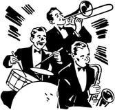 Tamburi e corni del big band Fotografia Stock Libera da Diritti
