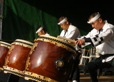 Tamburi giapponesi Immagine Stock Libera da Diritti