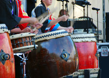Tamburi giapponesi (Taiko) Fotografia Stock Libera da Diritti