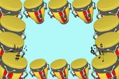 Tamburi musicali della struttura Immagini Stock Libere da Diritti