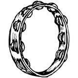 tamburin vektor Royaltyfri Fotografi