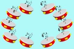Tamburino 3d Immagini Stock Libere da Diritti