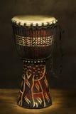 Tamburo africano della mano Fotografie Stock