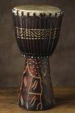 Tamburo africano della mano Immagine Stock