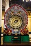 Tamburo al tempio di Tsukiji Honganji a Tokyo fotografie stock