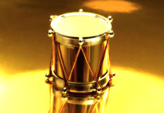 Tamburo dell'oro Fotografia Stock Libera da Diritti