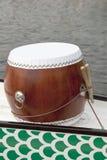 Tamburo della barca del drago con la bacchetta Fotografia Stock Libera da Diritti