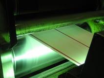 Tamburo di stampa sul torchio tipografico Immagine Stock
