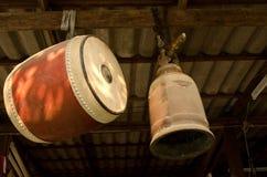 Tamburo e campana di legno Fotografia Stock