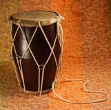 Tamburo handmade indiano Fotografia Stock Libera da Diritti