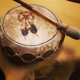 Tamburo indigeno di cuoio fotografia stock
