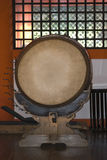 Tamburo nel santuario di Itsukushima, Miyajima, Giappone Immagine Stock