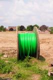 Tamburo per cavi verde Fotografia Stock Libera da Diritti