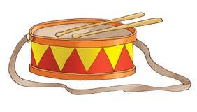 tamburo Rosso-giallo Fotografia Stock Libera da Diritti