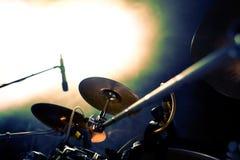 Tamburo e luci di concerti Fotografia Stock