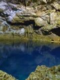 Tamchach-mummel underjordiska Cenote i Mexico Arkivbild