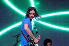 Tame Impala, psychedelic rock band project of Kevin Parker, performs at Heineken Primavera Sound 2013 Festival Royalty Free Stock Photography