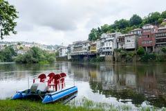 Tamega river boats stock photo