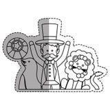 Tamer circus cartoon Stock Images