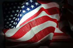 TAmerican flag in dark Royalty Free Stock Image